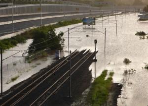 Railway line in the Ipswich suburb of Gailes. Credit Martin Howard