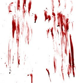 bloodied handprints
