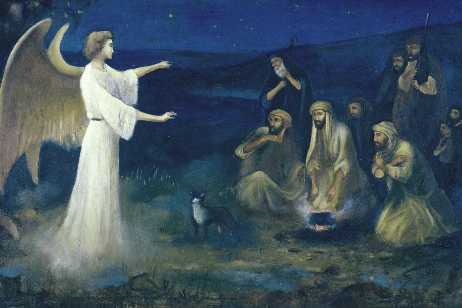 AngelAnnouncingtheBirthofChristtoShepherdsRobertLeinweber – Angels Announce the Birth of Jesus