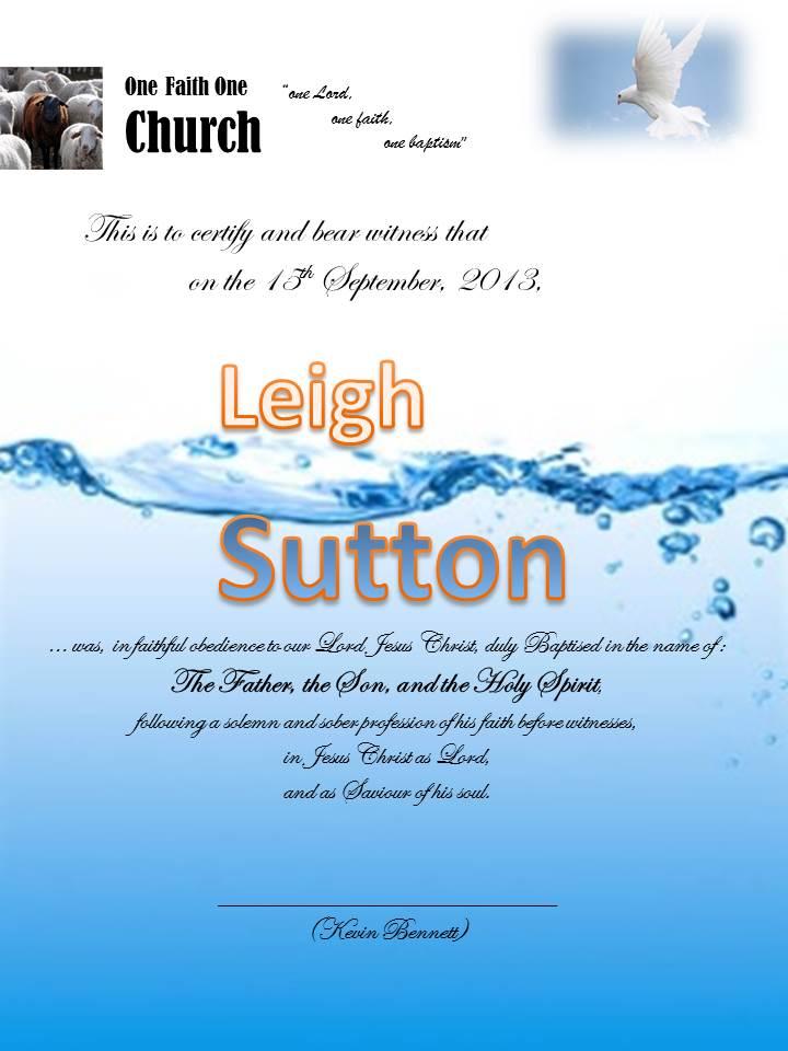 Leigh Baptism